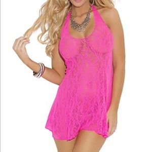 Other - Brand new hot pink baby doll lace